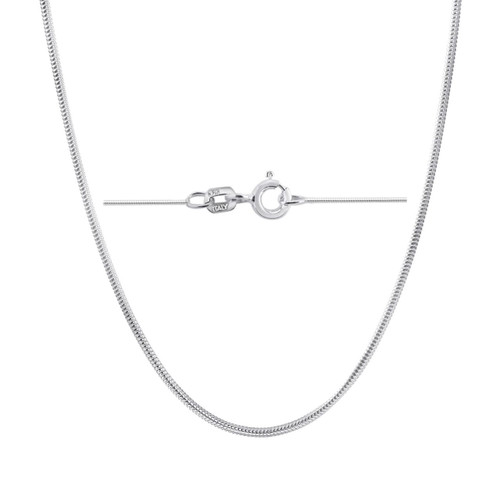 Sterling Silver .9mm Italian Snake Chain Necklacees