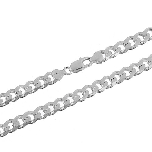 Sterling Silver .925 Cuban Curb 200 Men's 7mm Chain