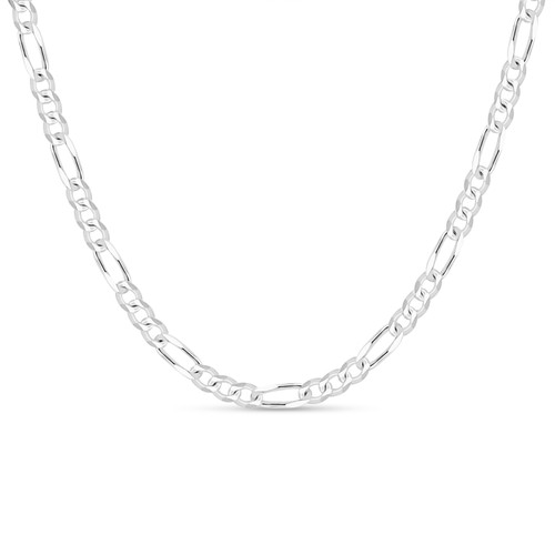 Solid .925 Sterling Silver 5.5mm Men's 150 Figaro Chain Necklace