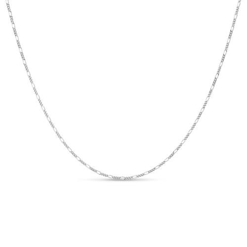 .925 Sterling Silver 1.7mm Italian Figaro Chain Bracelet