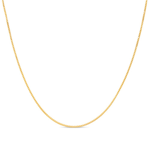 18k Gold Plated Silver Box Chain 1mm
