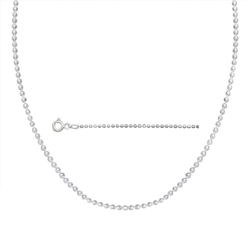 Sterling Silver Dog Tag Ball Chain