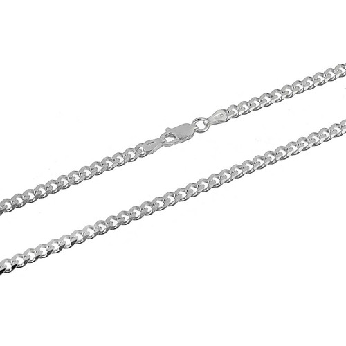 Sterling Silver .925 Cuban Curb 100 Men's 3.5mm Chain