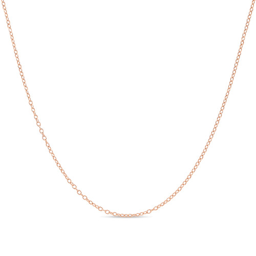 Rose Gold Plated Silver Cable Chain 1.3mm