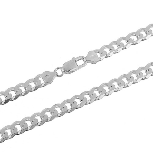 Sterling Silver .925 Cuban Curb 200F Men's 8mm Chain