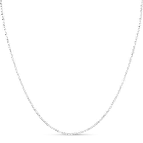 Italian Sterling Silver 2mm Wheat Chain Bracelet