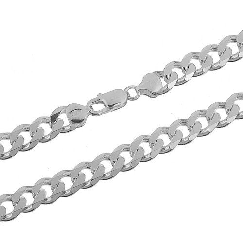 Sterling Silver .925 Cuban Curb 250 Men's 10mm Chain