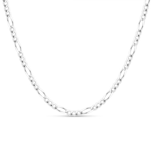 Solid .925 Sterling Silver 4.5mm Men's 120 Figaro Chain Necklace