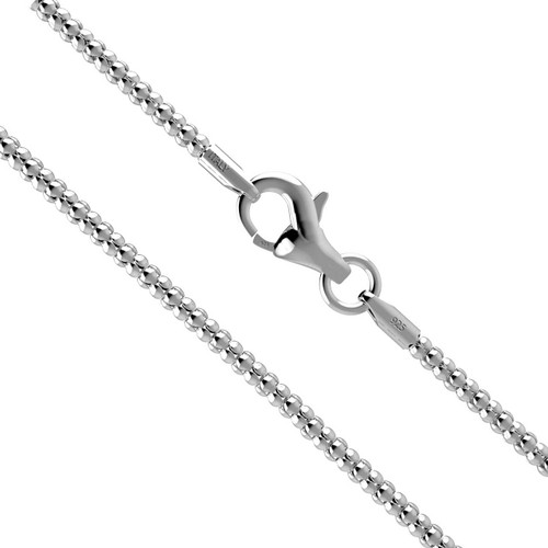Made in Italy Sterling Silver 2 mm Singapore Chain Necklace Nickel Free