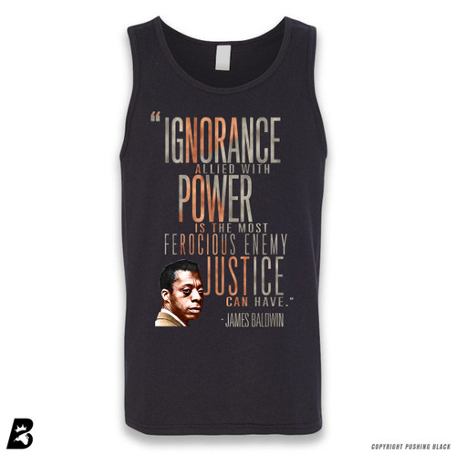 'James Baldwin 'Ignorance Allied With Power'' Sleeveless Unisex Tank Top