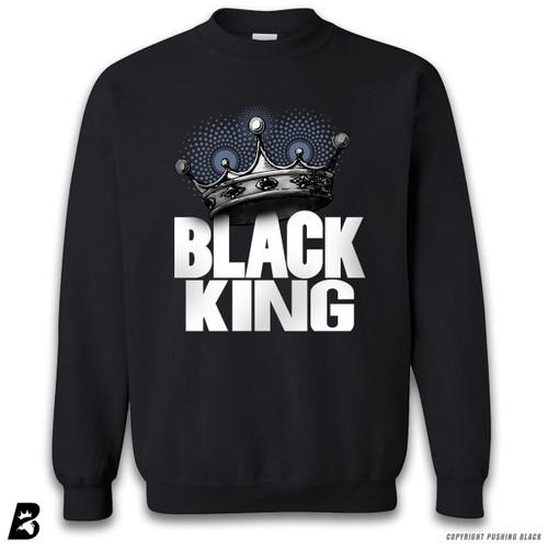 'Black King with Crown' Premium Unisex Sweatshirt