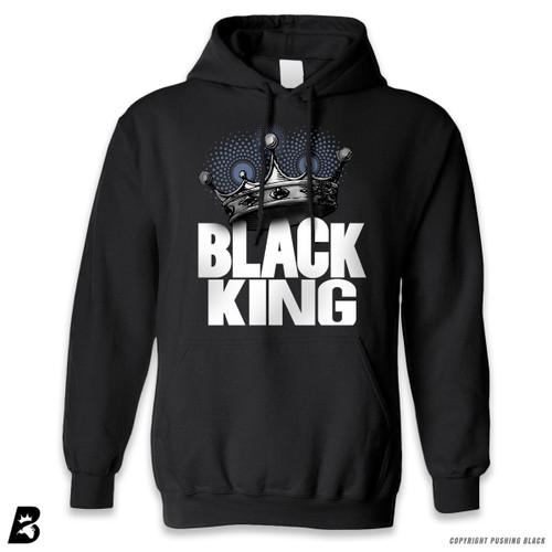 'Black King with Crown' Premium Unisex Hoodie with Pocket