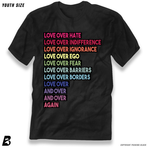 'Love Over Hate Over and Over Again' Premium Youth T-Shirt