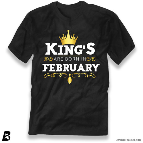 'King's Are Born In February' Premium Unisex T-Shirt