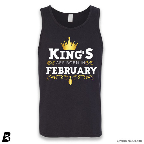 'King's Are Born In February' Sleeveless Unisex Tank Top