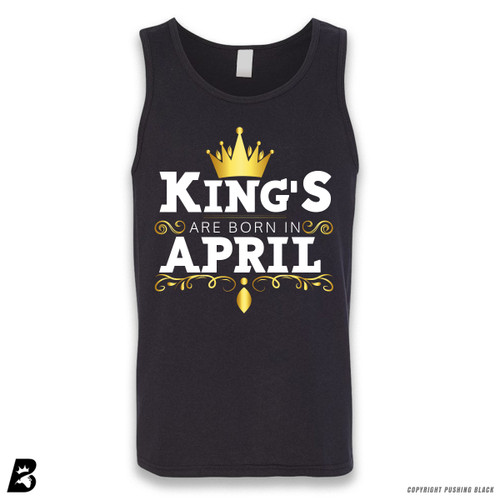 'King's Are Born In April' Sleeveless Unisex Tank Top