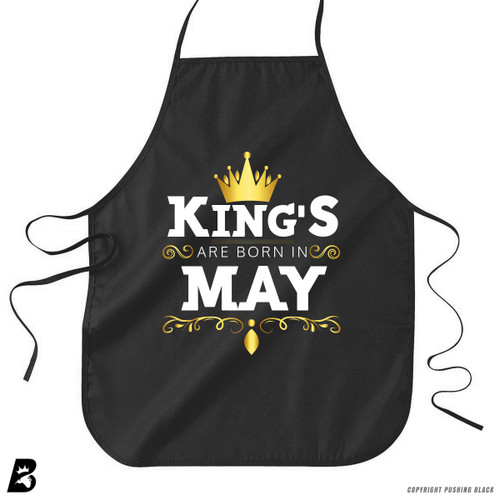 'King's Are Born In May' Premium Canvas Kitchen Apron