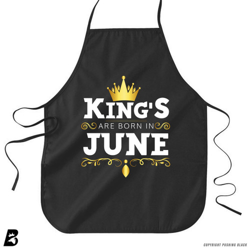 'King's Are Born In June' Premium Canvas Kitchen Apron
