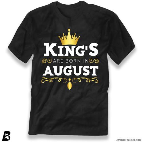 'King's Are Born In August' Premium Unisex T-Shirt