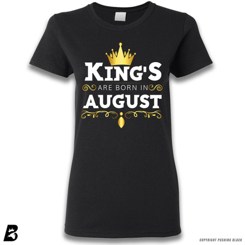 'King's Are Born In August' Premium Unisex T-Shirt