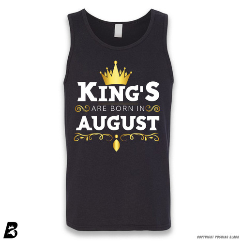 'King's Are Born In August' Sleeveless Unisex Tank Top