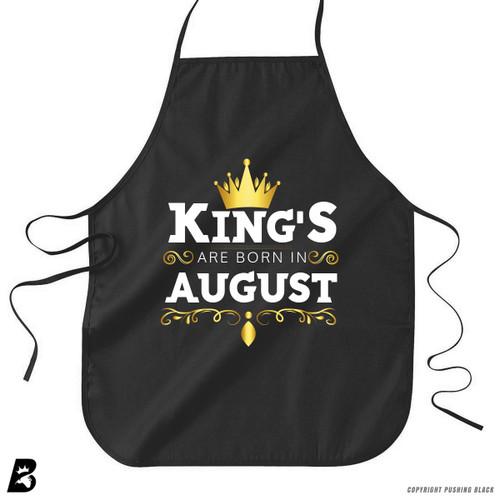 'King's Are Born In August' Premium Canvas Kitchen Apron