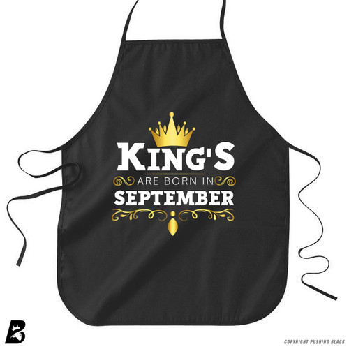 'King's Are Born In September' Premium Canvas Kitchen Apron