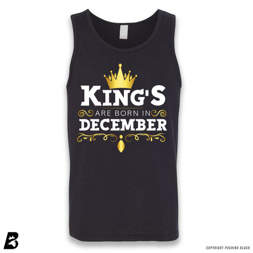 'King's Are Born In December' Sleeveless Unisex Tank Top