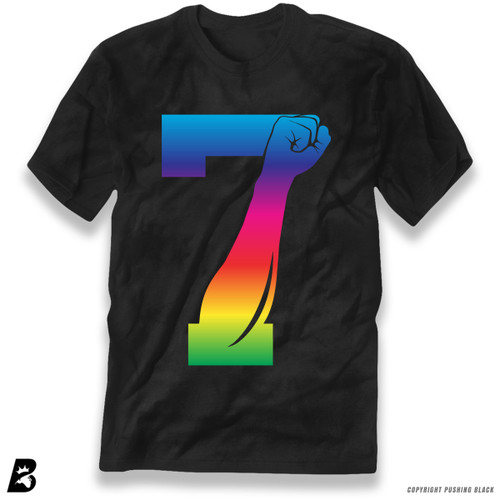 '7 Fist Up - Rainbow' Premium Unisex T-Shirt