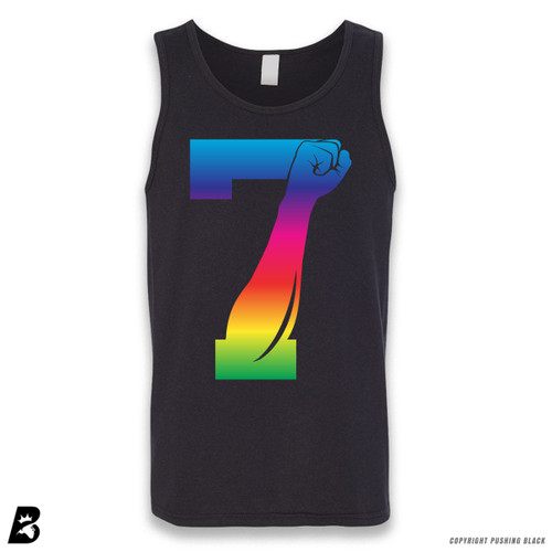'7 Fist Up - Rainbow' Sleeveless Unisex Tank Top