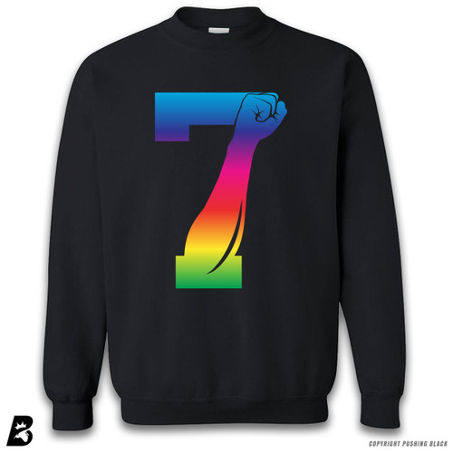 '7 Fist Up - Rainbow' Premium Unisex Sweatshirt