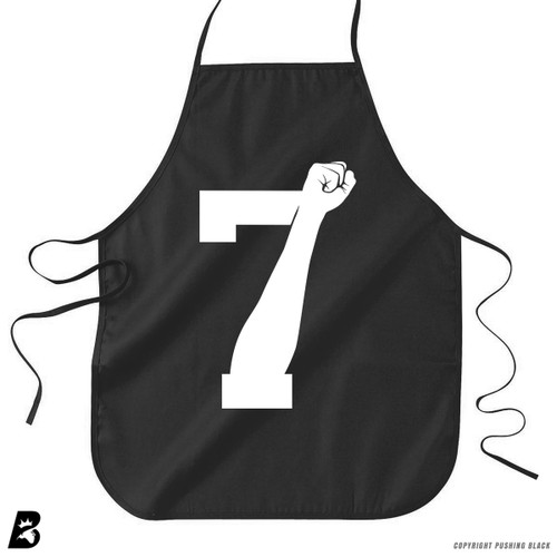'7 Fist Up High - White' Premium Canvas Kitchen Apron