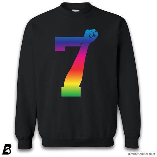 '7 Fist Up High - Rainbow' Premium Unisex Sweatshirt