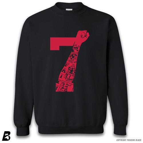 '7 Fist Up High - Scarlet with Tattoo' Premium Unisex Sweatshirt