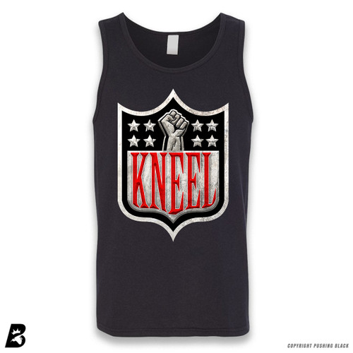 'Kneel with Kap Shield' Sleeveless Unisex Tank Top