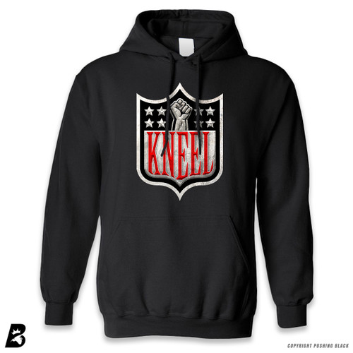 'Kneel with Kap Shield' Premium Unisex Hoodie with Pocket