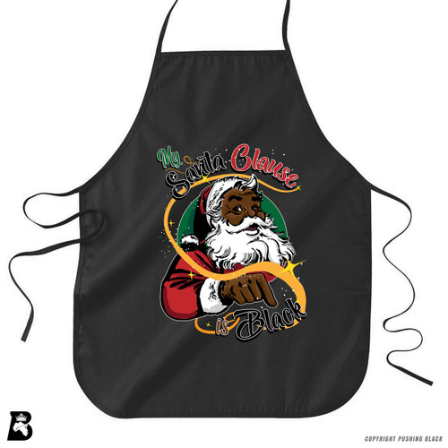 'My Santa Clause is Black - Christmas' Premium Canvas Kitchen Apron