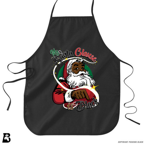 'My Santa Clause is Black' Premium Canvas Kitchen Apron