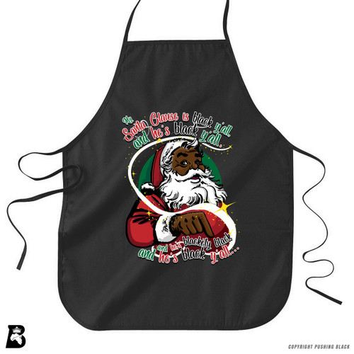 'My Santa Clause is Black Ya'll' Premium Canvas Kitchen Apron