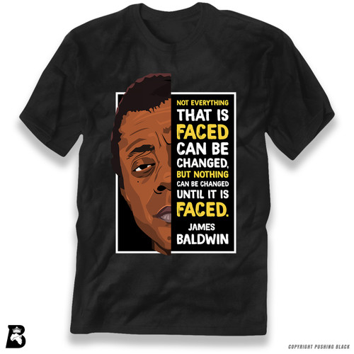 'The Legacy Collection - James Baldwin 'Not Everything That is Faced'' Premium Unisex T-Shirt