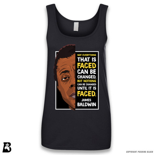 'The Legacy Collection - James Baldwin 'Not Everything That is Faced'' Sleeveless Ladies Tank Top