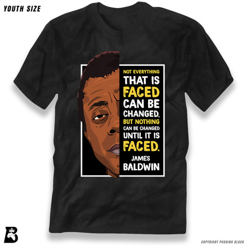 'The Legacy Collection - James Baldwin 'Not Everything That is Faced'' Premium Youth T-Shirt