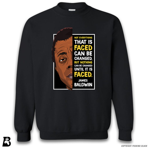 'The Legacy Collection - James Baldwin 'Not Everything That is Faced'' Premium Unisex Sweatshirt