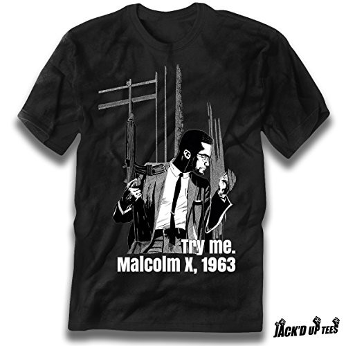 'Try Me' Malcolm X Grayscale Premium Tee