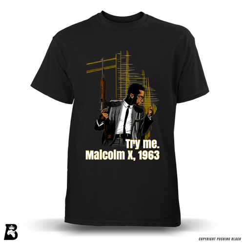 'Try Me' Malcolm X Full Color Premium Tee
