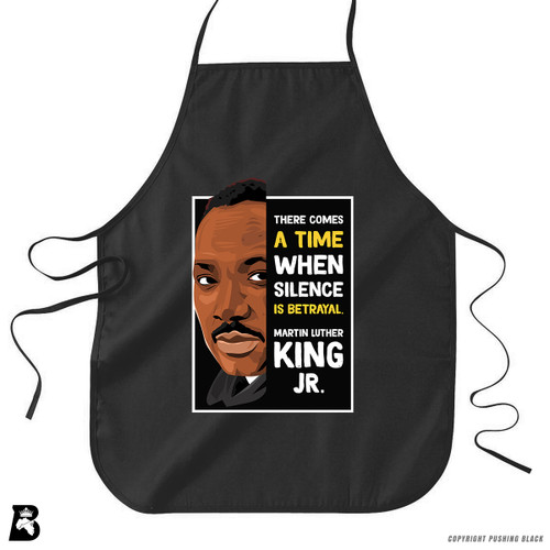 'The Legacy Collection - Martin Luther King Jr. 'Silence is Betrayal'' Premium Canvas Kitchen Apron
