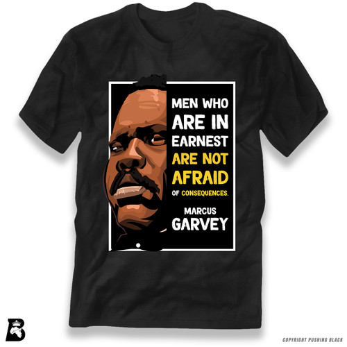 'The Legacy Collection - Marcus Garvey 'Men Who Are in Earnest'' Premium Unisex T-Shirt