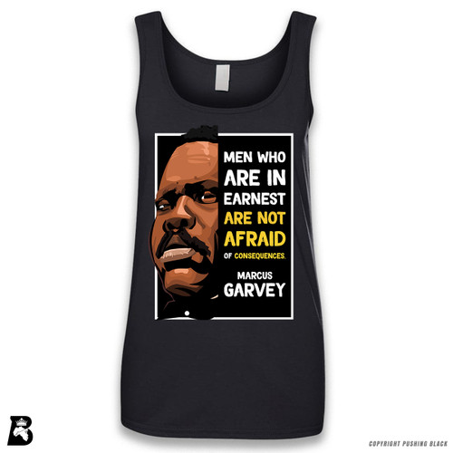 'The Legacy Collection - Marcus Garvey 'Men Who Are in Earnest'' Sleeveless Ladies Tank Top