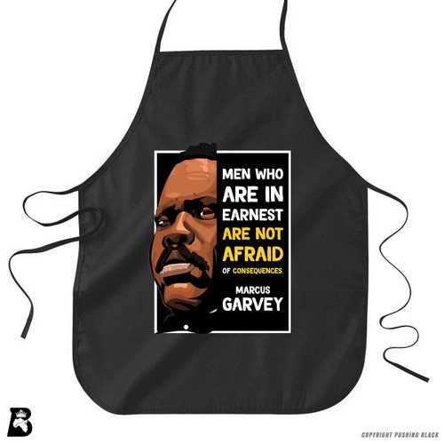 'The Legacy Collection - Marcus Garvey 'Men Who Are in Earnest'' Premium Canvas Kitchen Apron
