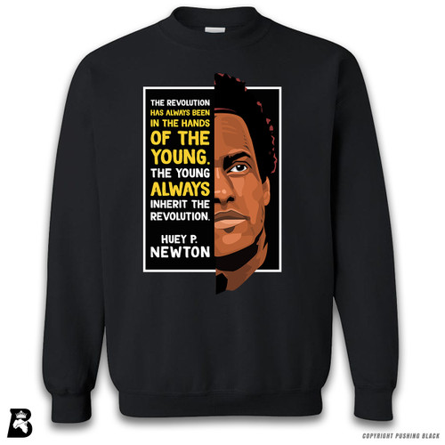 'The Legacy Collection - Huey P. Newton 'The Young Inherit the Revolution'' Premium Unisex Sweatshirt